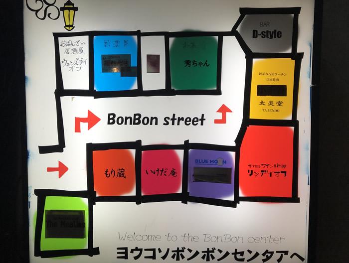 桜山ボンボンセンターの店舗(2020年3月現在)