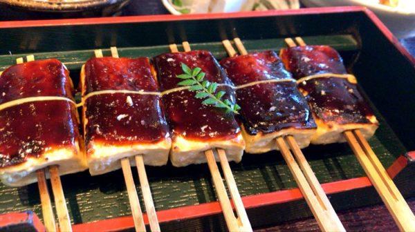 高田豆腐店の豆腐田楽