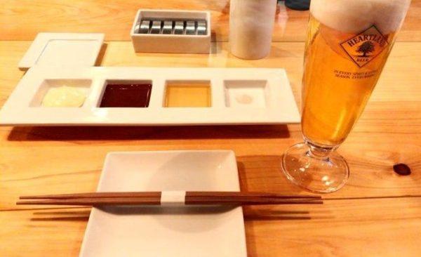 串ビストロ92 串揚げのタレは4種類