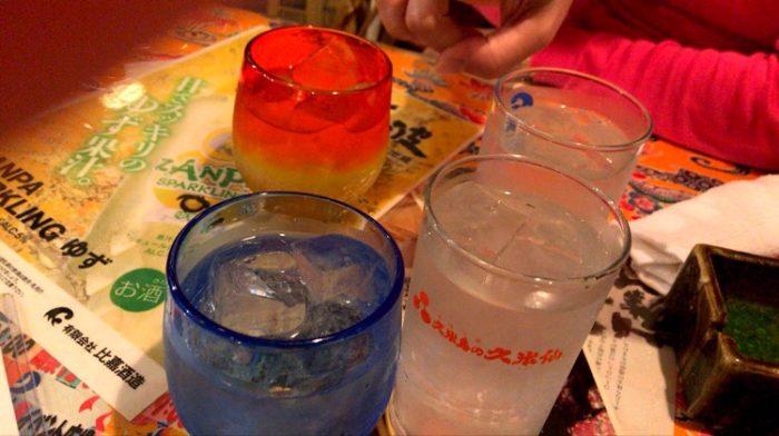 沖縄居酒屋あらぐすくの泡盛グラス