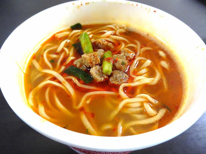 味仙の台湾ラーメンカップ麺が完成