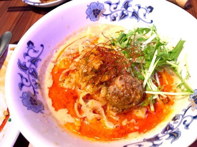 FARO花楼(ファーロウ)の担担麺、辛いやつ