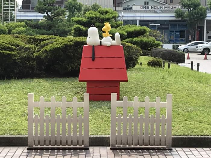スヌーピーミュージアム展(名古屋市博物館 )の入り口の撮影ポイント!