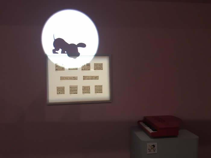スヌーピーミュージアム展(名古屋市博物館 )スヌーピーのシルエットが動いて可愛い