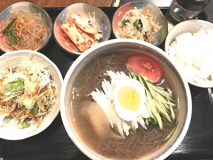 韓国の家ランチ・冷麺