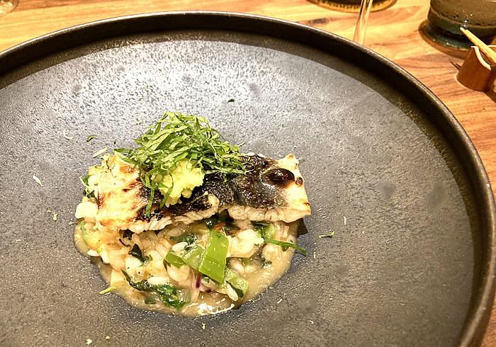 セルバッジョ 三河一色鰻の炭火焼き・茄子と実山椒のリゾット