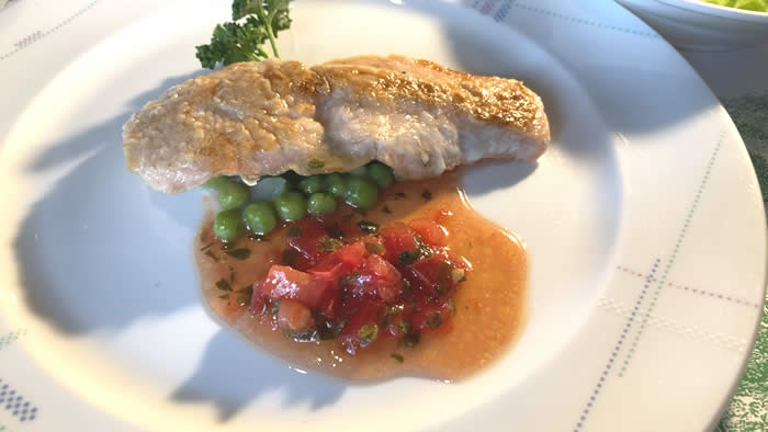 レストラン&カフェ セゾン ランチの魚料理